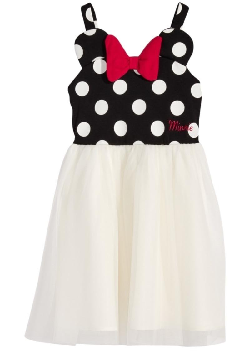 Disney's Little Girls Minnie Mouse Polka Dot & Mesh Dress