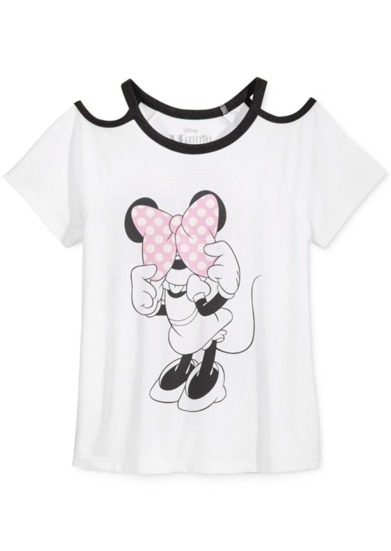 Disney's Minnie Mouse Cold-Shoulder T-Shirt, Big Girls (7-16)