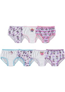 Disney's Minnie Mouse Cotton Panties, 7-Pack, Toddler Girls