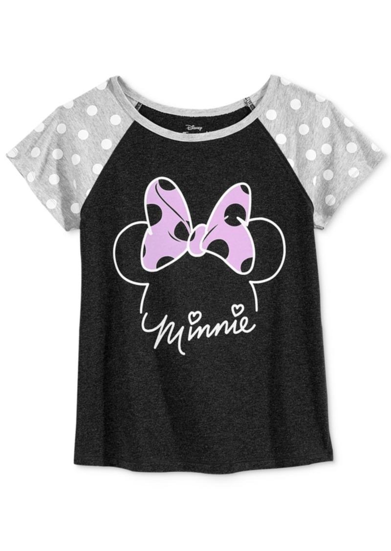Disney's Minnie Mouse Polka-Dot Sleeve Graphic T-Shirt, Big Girls (7-16)