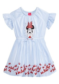 Disney's Minnie Mouse Striped Cotton Dress, Little Girls