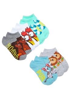 Disney's Moana 5-Pk. Graphic-Print Socks, Little Girls & Big Girls