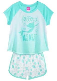 Disney's The Little Mermaid Little & Big Girls 2-Pc. Pajama Set, Created for Macy's