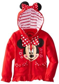 Disney FREEZE Little Girls' Minnie Polka Dot Bow Toddler Hoodie