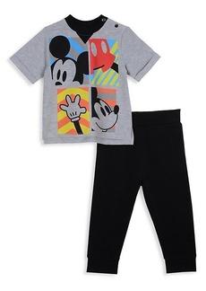 Little Boy's Disney x Pippa & Julie Mickey Mouse T-Shirt & Pant 2-Piece Set