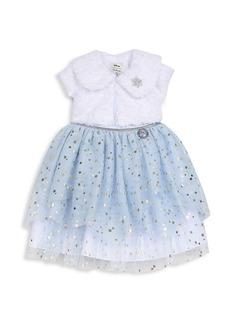 Disney Little Girl's & Girl's 2-Piece Star Dress & Faux Fur Shrug Set