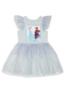 Disney Little Girl's & Girl's Anna & Elsa Sparkle Tutu Dress
