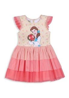 Disney Little Girl's & Girl's Belle Tiered Ruffle Dress