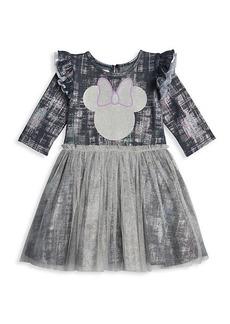 Little Girl's & Girl's Disney x Pippa & Julie Foil Denim Tutu Dress