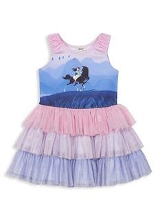 Little Girl's & Girl's Disney x Pippa & Julie Mulan Tiered Tutu Dress