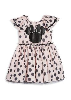 Little Girl's & Girl's Disney x Pippa & Julie Polka Dot Dress