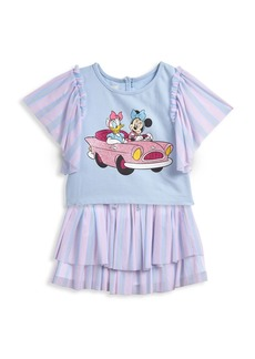 Disney Little Girl's 2-Piece Minnie Mouse T-Shirt & Skirt Set