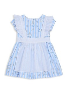 Disney Little Girl's Alice Cotton Pinafore Dress