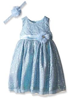 Disney Little Girls Cinderella Special Ocassion Dress and Headband