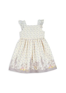 Little Girl's Disney Border-Print Cotton Dress