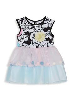 Little Girl's Disney x Pippa & Julie Minnie Mouse Pom-Pom Dress