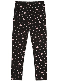 Disney Toddler Girls Full Length Legging with Allover Hearts and Dot Graphic Print