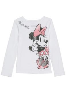 Disney Little Girls Minnie Sketch Long Sleeve Tee