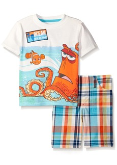 Disney Toddler Boys 2 Piece Finding Dory Need A Hand Plaid Short Set