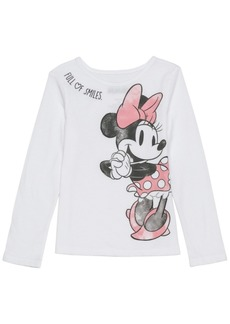 Disney Toddler Girls Minnie Sketch Long Sleeve Tee