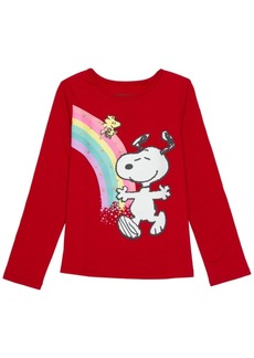 Disney Toddler Girls Snoopy Rainbow Long Sleeve Tee