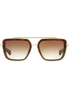 DITA square-frame tortoiseshell sunglasses