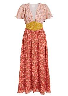 Divine Heritage Ditsy Floral Chiffon Dress