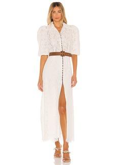Divine Heritage Belted Short Sleeve Dress