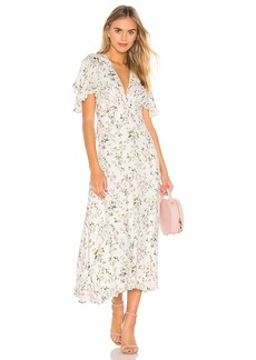 Divine Heritage Flutter Midi Dress