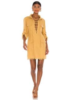 Divine Heritage Lace Up Mini Safari Dress