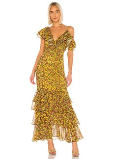 Divine Heritage Ruffle Tier Gown
