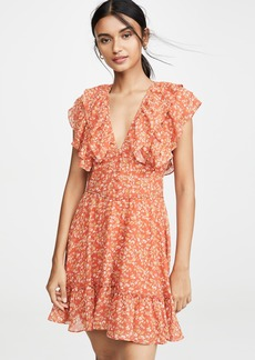 Divine Heritage Short Sleeve Ruffle Dress