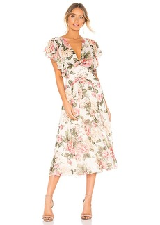 Divine Heritage Twist Back Midi Dress