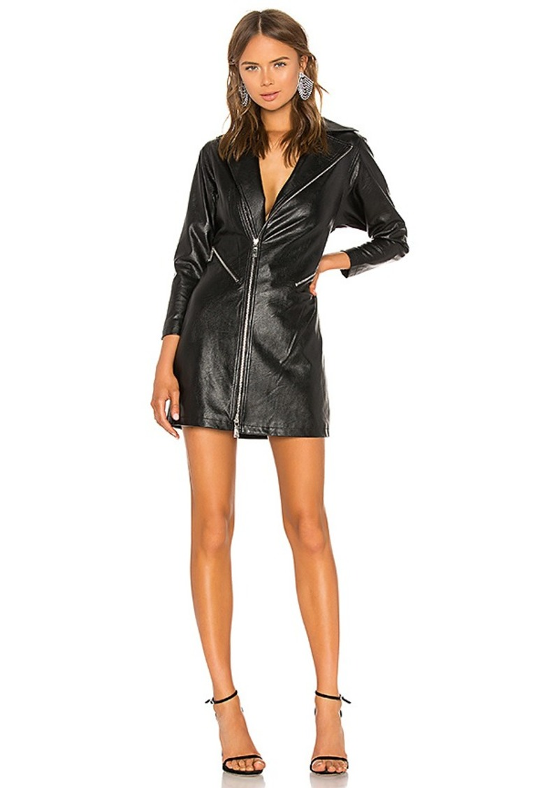 Divine Heritage Vegan Leather Moto Dress