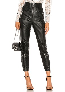 Divine Heritage Vegan Leather Moto Pant