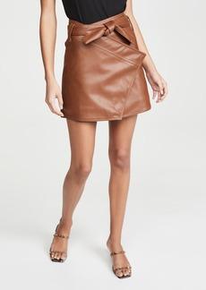 Divine Heritage Wrap Miniskirt