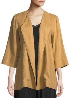 DKNY 3/4-Sleeve Draped Linen Jacket