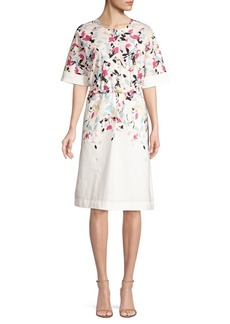 DKNY Abstract A-Line Dress