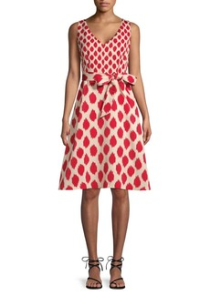 DKNY Abstract Faille Fit-And-Flare Dress