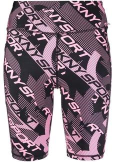 DKNY abstract logo-print shorts