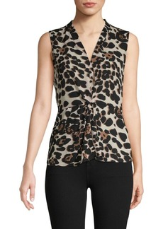 DKNY Animal-Print Sleeveless Top