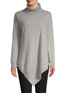 DKNY Asymmetric Cashmere Turtleneck Sweater