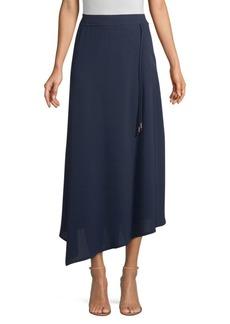 DKNY Asymmetric Draped Midi Skirt
