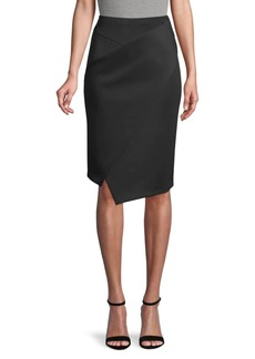 DKNY Asymmetric Faux Wrap Skirt