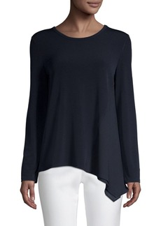 DKNY Asymmetric Long-Sleeve Top
