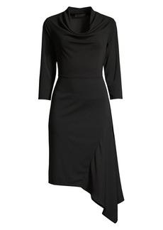 DKNY Asymmetric Sheath Dress
