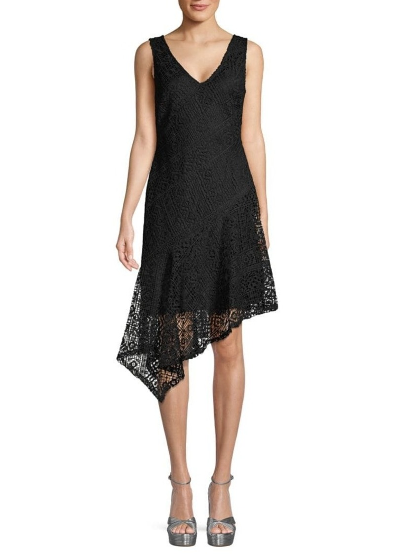 DKNY Asymmetrical Lace Dress