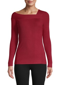 DKNY Asymmetrical Neckline Sweater