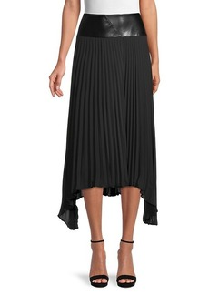 DKNY Asymmetrical Pleated Skirt