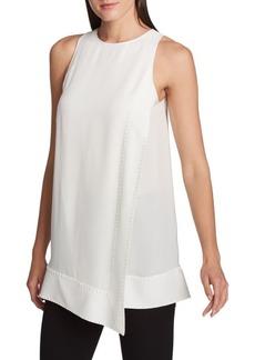 DKNY Asymmetrical Silk Top